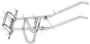 Schéma du châssis de la brouette la Ganaq