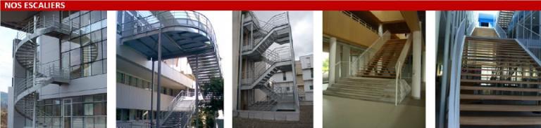 Escaliers réalisés par l'entreprise Laugel & Renouard