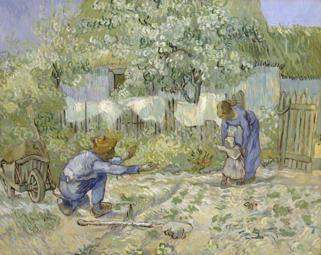 """Les artistes Van Gogh et Millet ont peints """"Les premiers pas"""""""